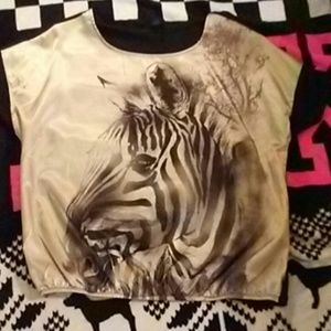 NWOT FADED GLORY Zebra Top 1X